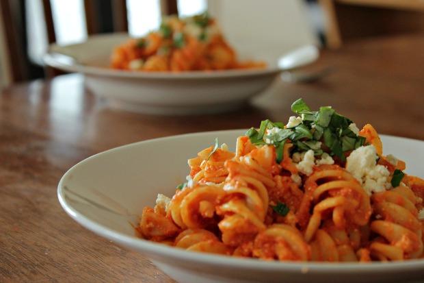 Feta and capsicum pasta (6)