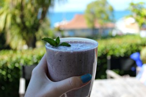 Smoothie with coulis pulp