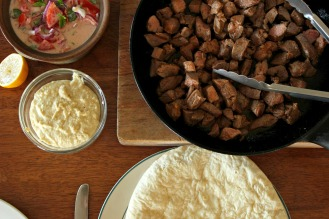 Turkish lamb with tomato and yogurt relish